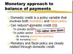 monetary approach to balance of payments2