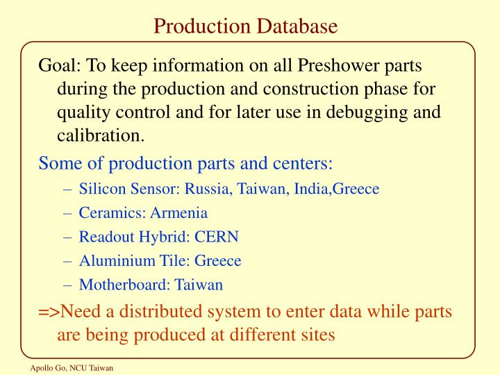 Production database1