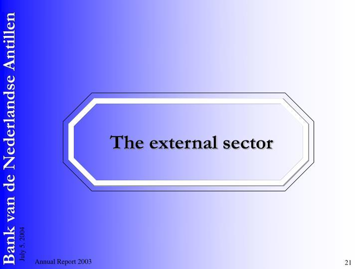 The external sector