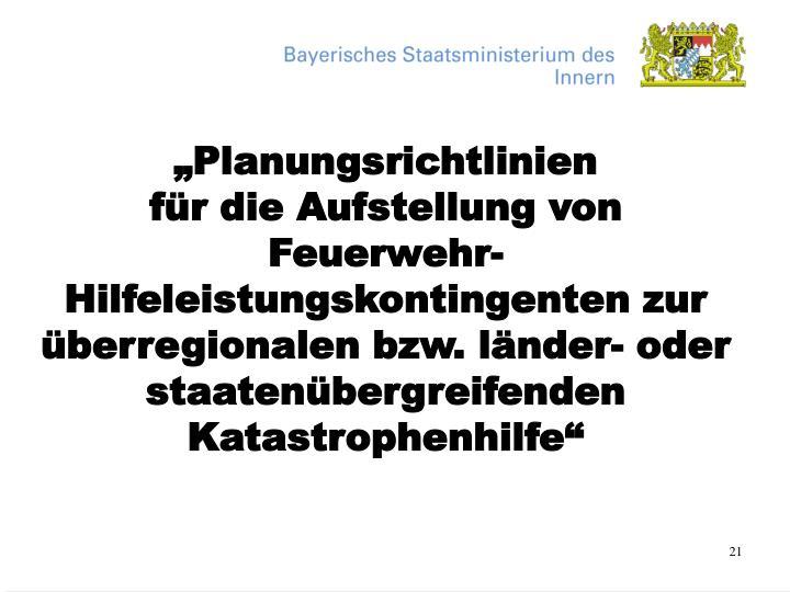 """""""Planungsrichtlinien"""