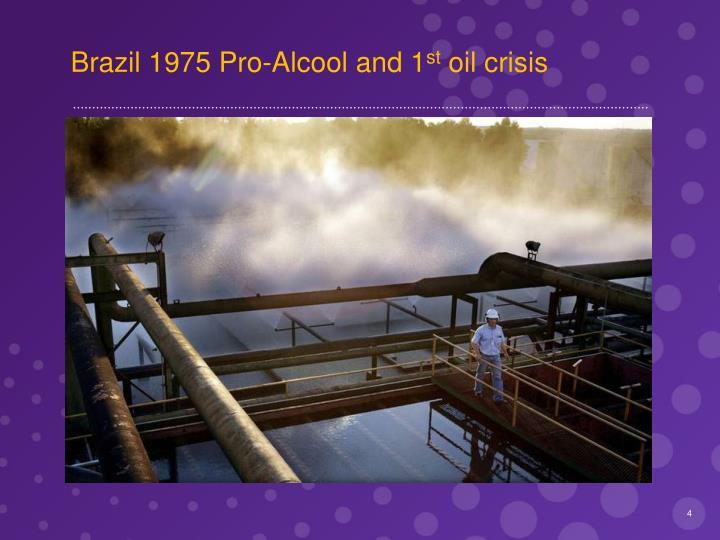 Brazil 1975 Pro-Alcool and 1