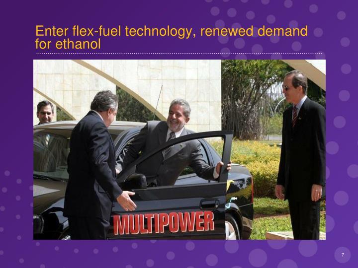 Enter flex-fuel technology, renewed demand for ethanol