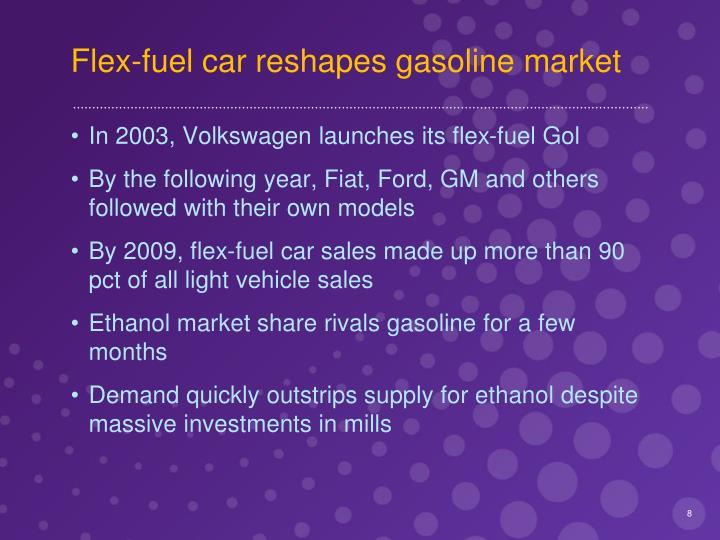 Flex-fuel car reshapes gasoline market