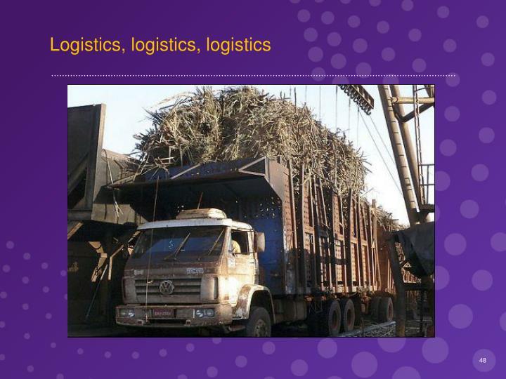 Logistics, logistics, logistics