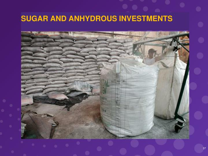 SUGAR AND ANHYDROUS INVESTMENTS