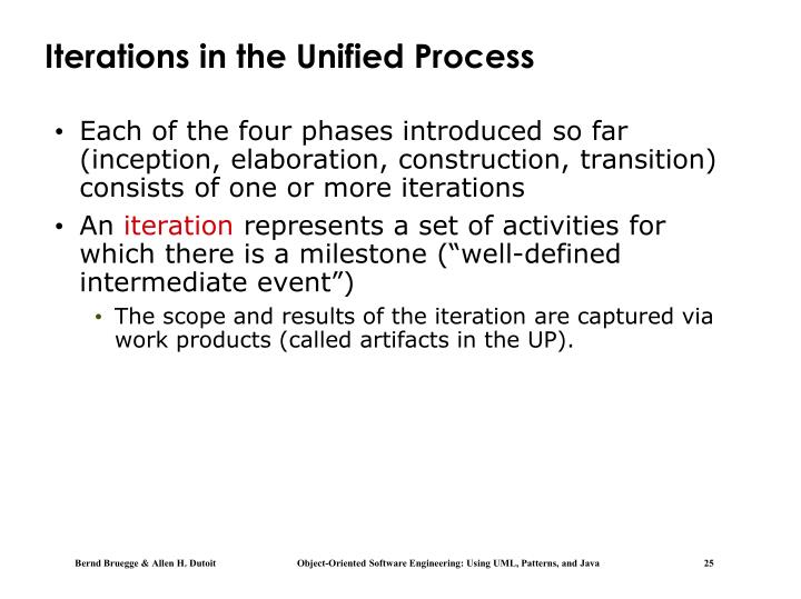 Iterations in the Unified Process