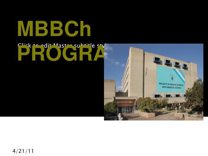 Mbbch programme
