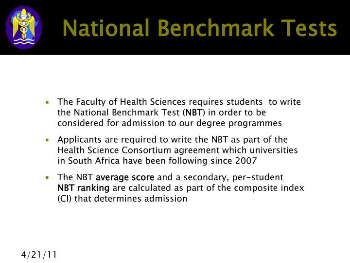 National benchmark tests