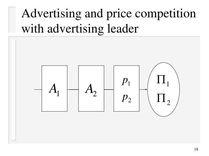 Advertising and price competition with advertising leader