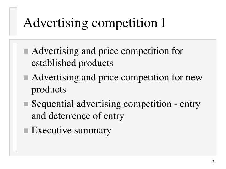 Advertising competition i