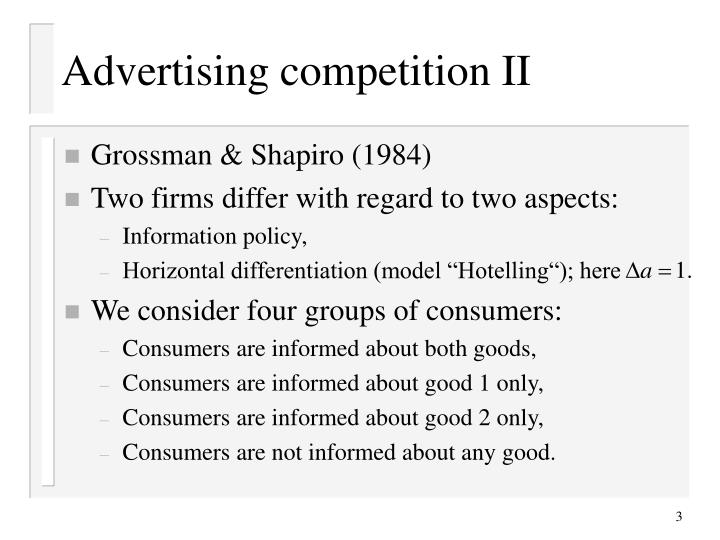 Advertising competition ii