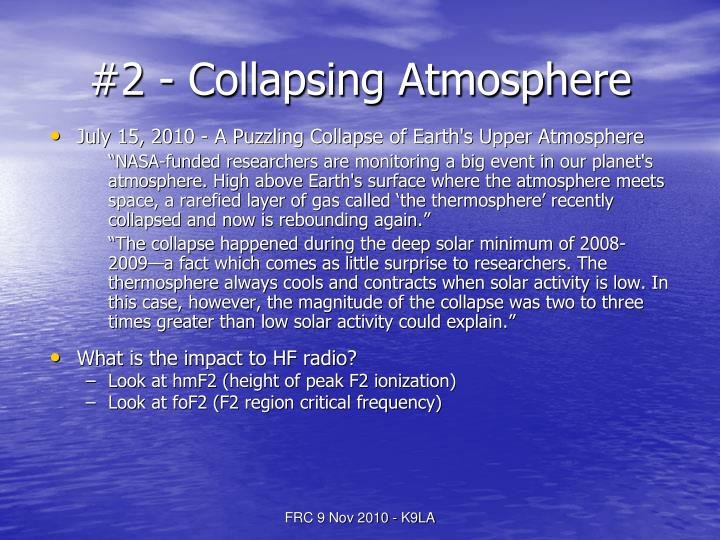 #2 - Collapsing Atmosphere