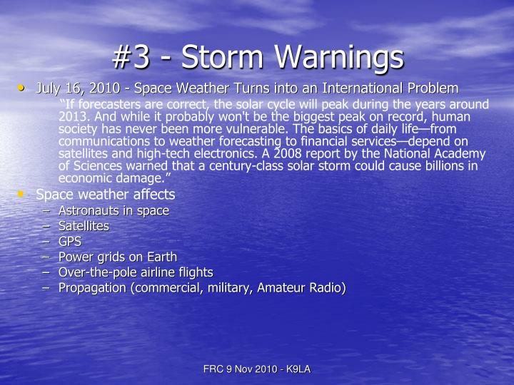 #3 - Storm Warnings