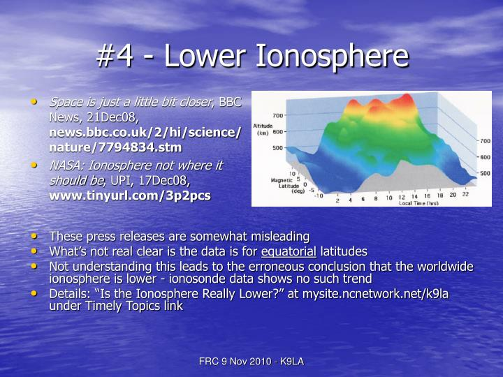 #4 - Lower Ionosphere