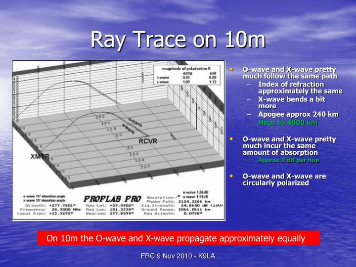 Ray Trace on 10m