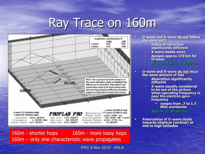 Ray Trace on 160m