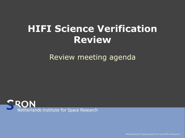 hifi science verification review n.