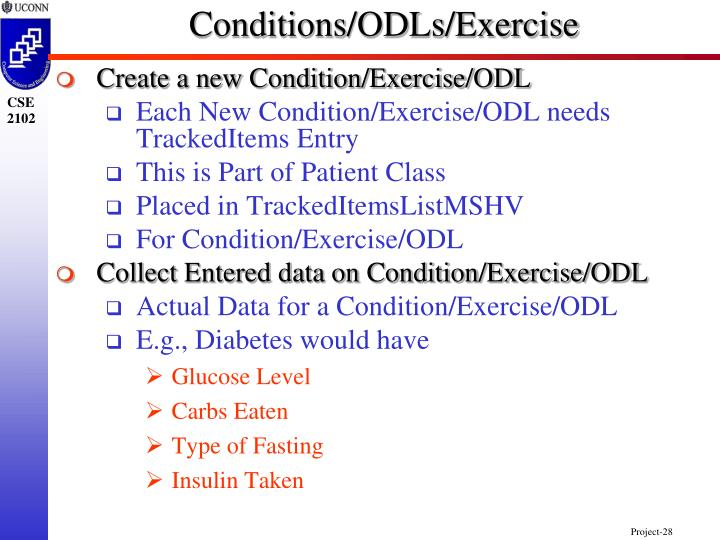 Conditions/ODLs/Exercise