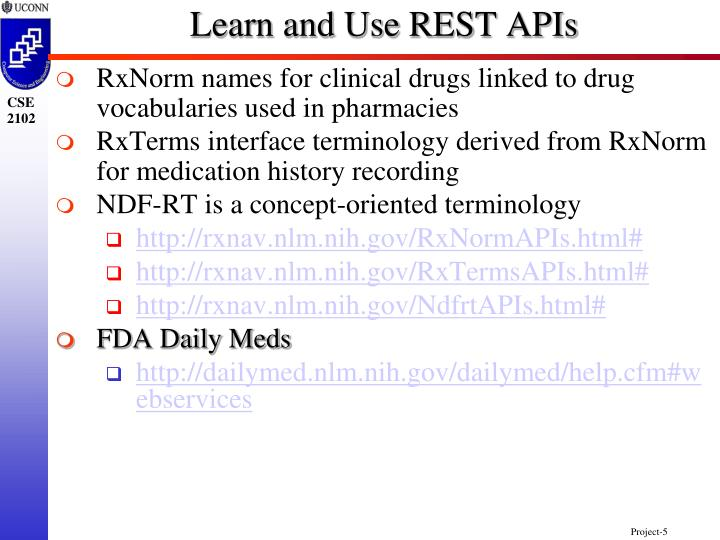 Learn and Use REST APIs