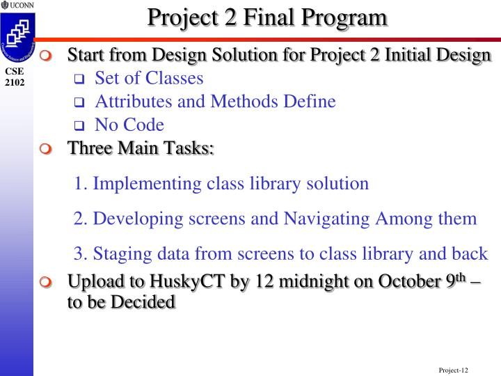Project 2 Final Program