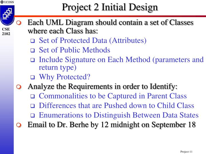 Project 2 Initial Design