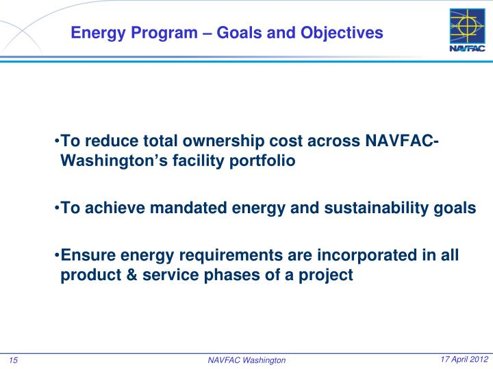 Energy Program – Goals and Objectives