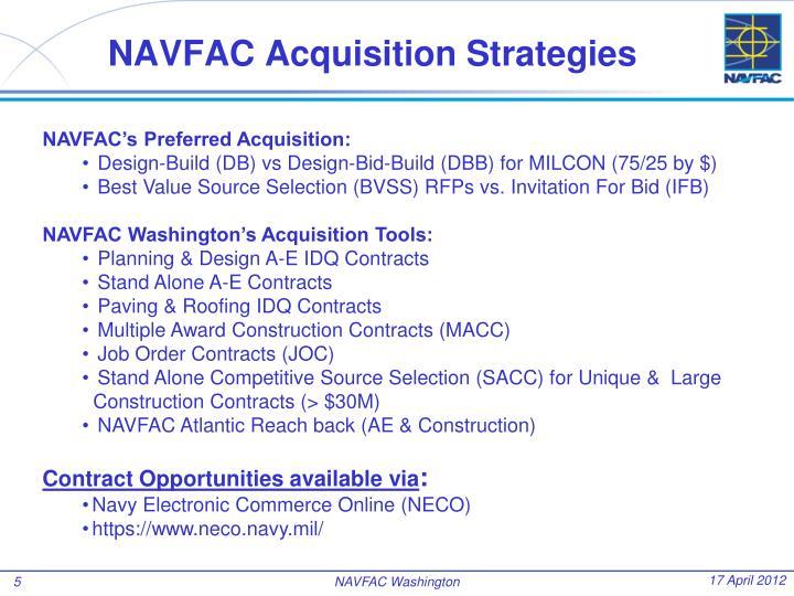 NAVFAC Acquisition Strategies