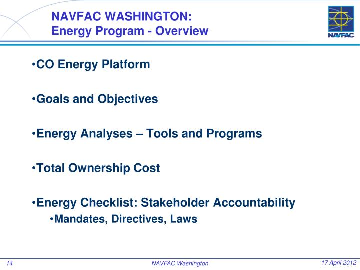 NAVFAC WASHINGTON:
