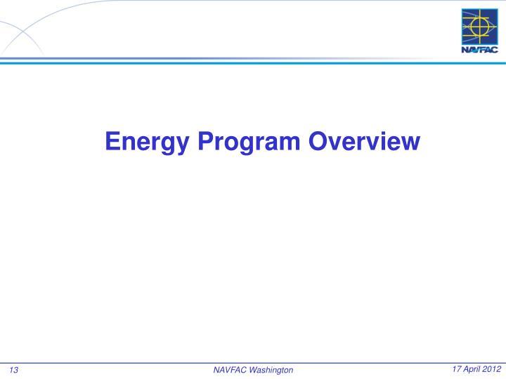 Energy Program Overview