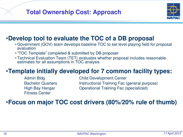 Total Ownership Cost: Approach