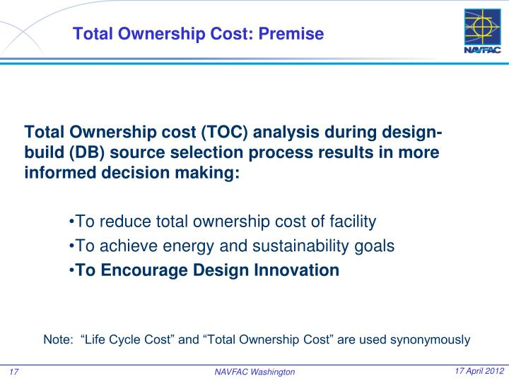 Total Ownership Cost: Premise