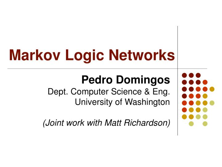markov logic networks n.