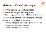 mlns and first order logic