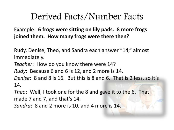 Derived Facts/Number Facts