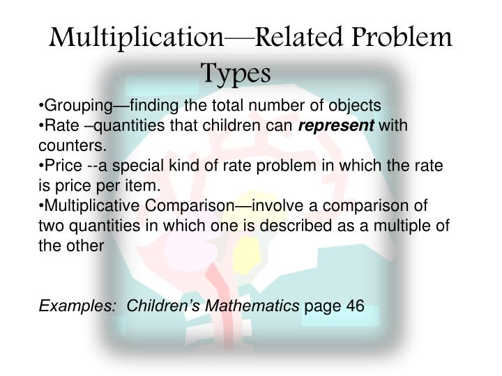 Multiplication—Related Problem Types