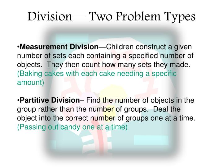 Division— Two Problem Types