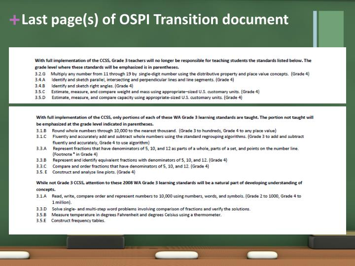 Last page(s) of OSPI Transition document