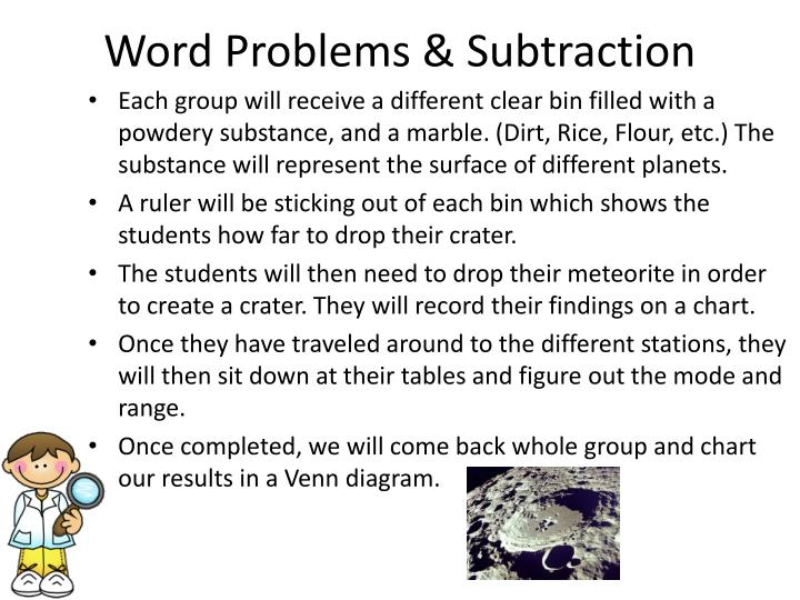 Word Problems & Subtraction