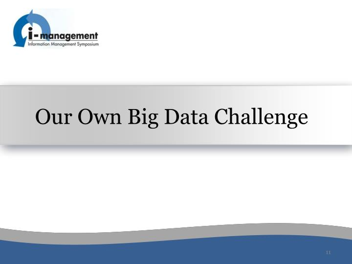 Our Own Big Data Challenge