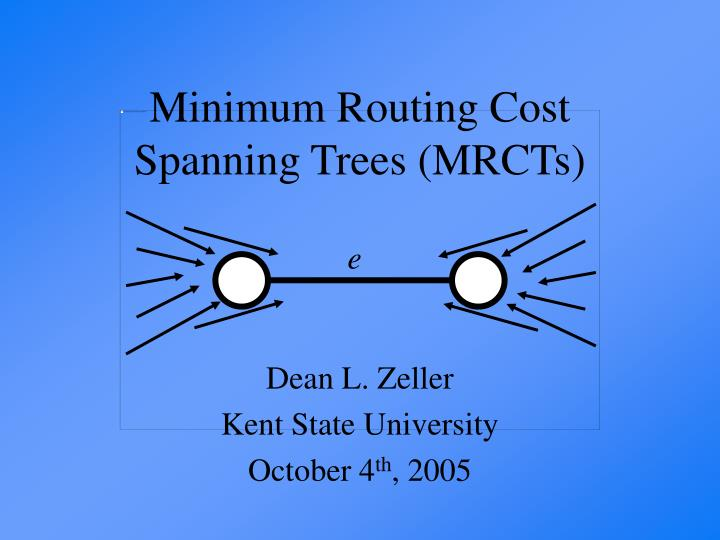 Minimum routing cost spanning trees mrcts