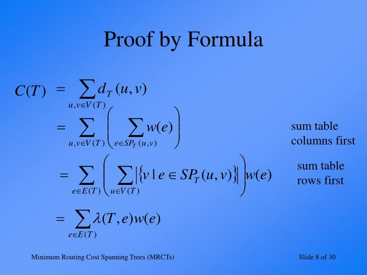 Proof by Formula