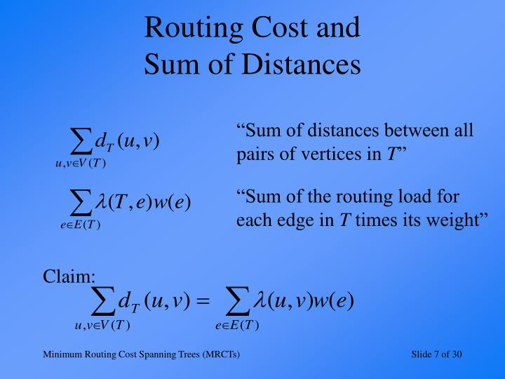 Routing Cost and