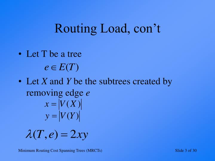 Routing load con t
