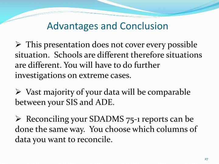 Advantages and Conclusion