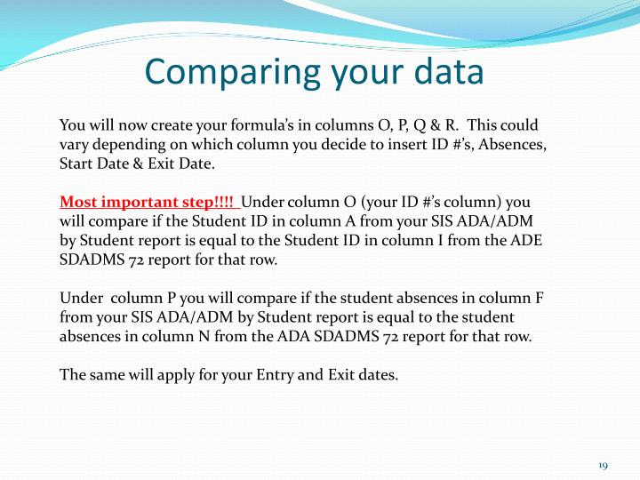 Comparing your data