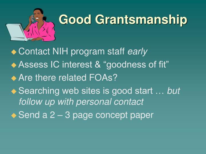 Good Grantsmanship