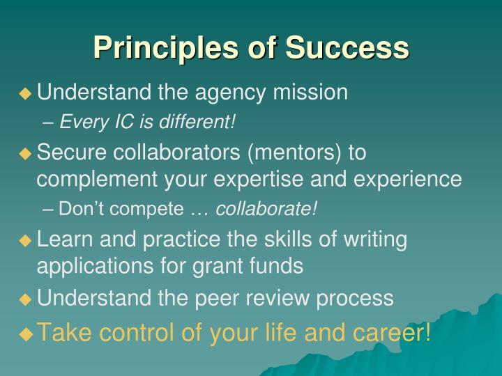 Principles of Success