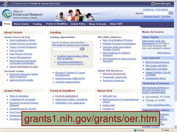 grants1.nih.gov/grants/oer.htm