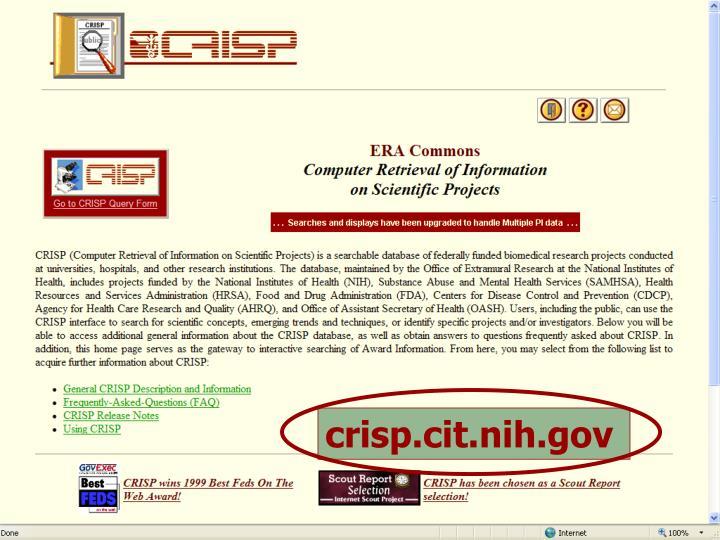 crisp.cit.nih.gov