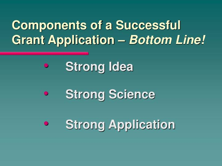 Components of a Successful